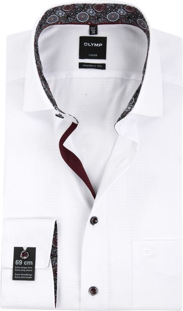 OLYMP Overhemd Luxor MF Dessin Wit SL7