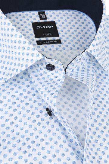 OLYMP Overhemd Luxor MF Stippen Blauw