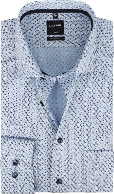 OLYMP Overhemd Luxor MF Swoosh Lichtblauw