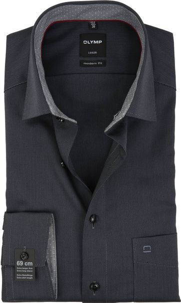 OLYMP Overhemd Luxor Modern-Fit SL7 Grey