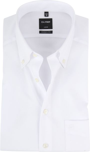 OLYMP Overhemd Luxor Wit Korte Mouw