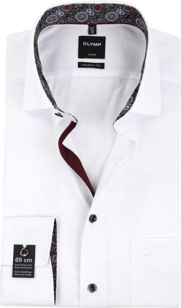 OLYMP Overhemd LuxorMF Dessin Wit SL7
