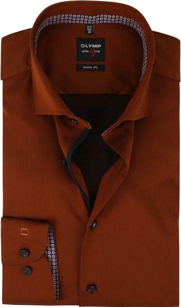 OLYMP Overhemd Lvl 5 Bruin