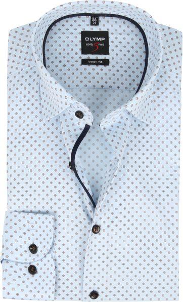 OLYMP Overhemd Lvl 5 Sleeve7 Blauw