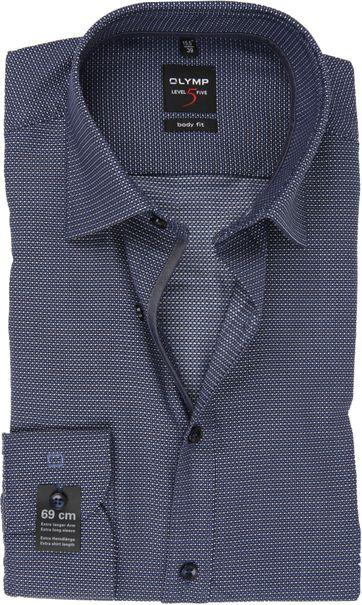 OLYMP Overhemd Lvl 5 Sleeve7 Donkerblauw