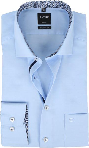 OLYMP Overhemd MF Luxor Dessin Blauw