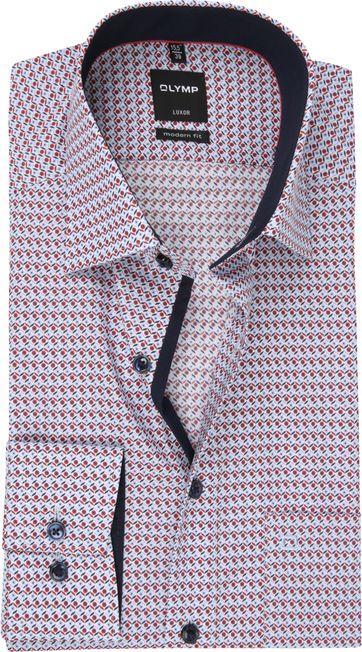 OLYMP Overhemd MF Luxor Dessin Rood