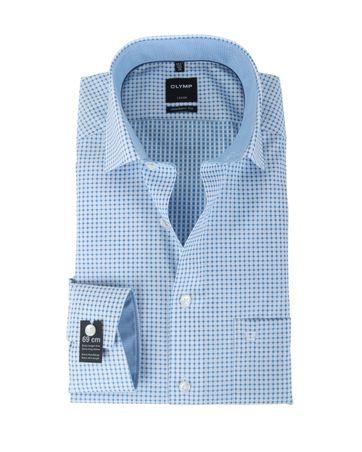 Olymp Overhemd Modern Fit Blauw Print SL7
