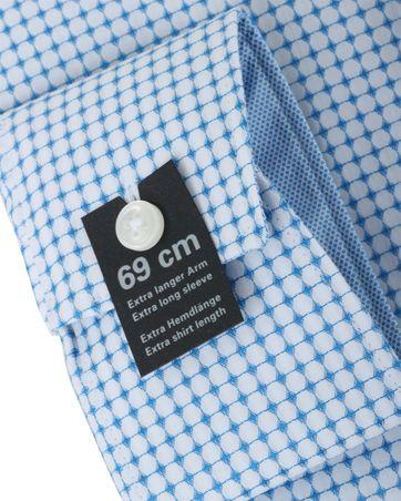 Detail Olymp Overhemd Modern Fit Blauw Print SL7