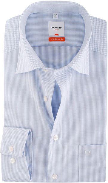 Olymp Overhemd Modern Fit Blauwe Ruit