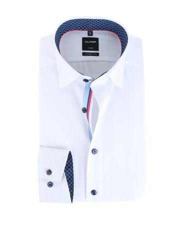 Olymp Overhemd Modern Fit Wit Button Under