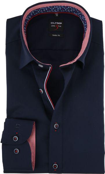 OLYMP Overhemd Navy Level 5