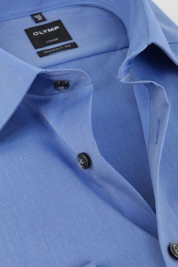 OLYMP Overhemd SL7 Blauw Chambray