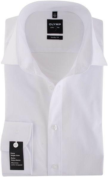 Olymp Overhemd SL7 Body-Fit Wit
