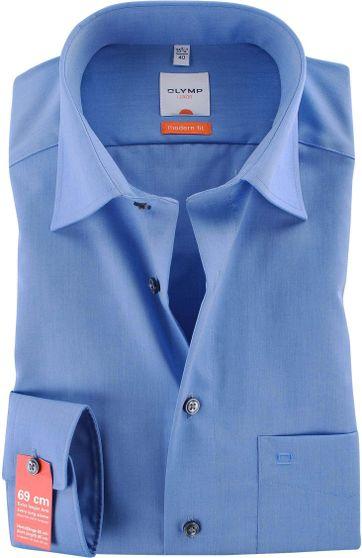 OLYMP Overhemd SL7 Slim Line Dark Blue Chambray