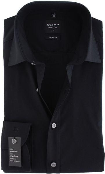 Olymp Overhemd SL7 Zwart Body Fit