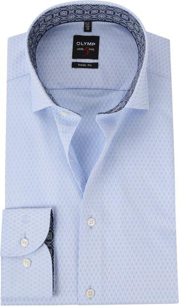OLYMP Shirt BF Level 5 Herringbone