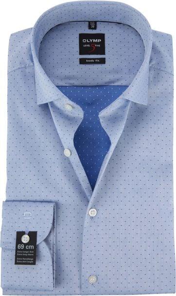 OLYMP Shirt Blue BF Level 5 SL7