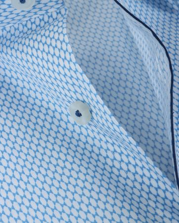 Detail Olymp Shirt Body Fit Blauw Honingraat SL7