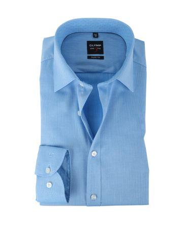 Olymp Shirt Body Fit Blauw Mini Ruit