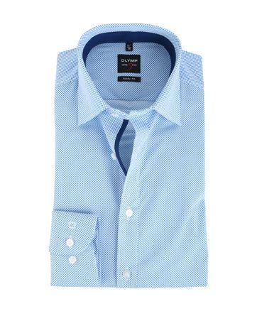 Olymp Shirt Body Fit Blauw Punt