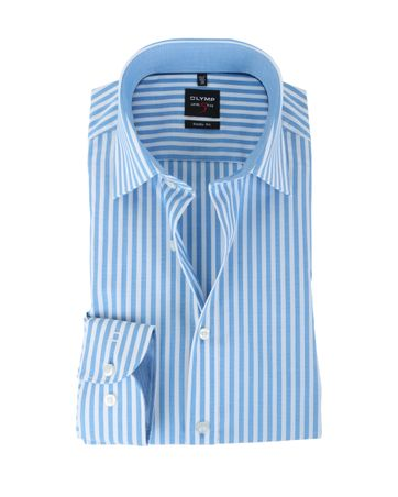 Olymp Shirt Body Fit Blauwe Streep