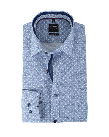 Olymp Shirt Body Fit Blue Dots