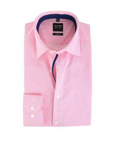 Olymp Shirt Body Fit Fuchsia Punt