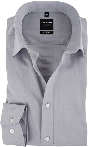 Olymp Shirt Body-Fit Grey