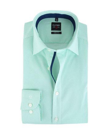 Olymp Shirt Body Fit Groen Punt