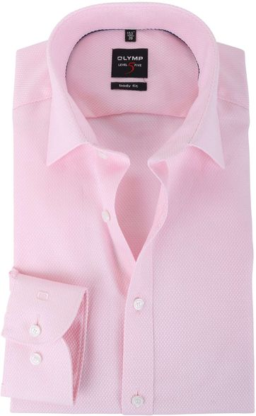 Olymp Shirt Body Fit Pink