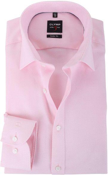 Olymp Shirt Body Fit Roze