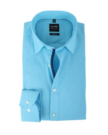 Olymp Shirt Body Fit Turquoise