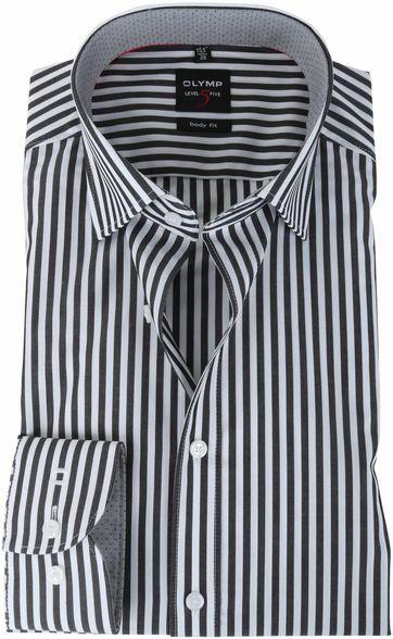 Olymp Shirt Body Fit Zwarte Streep