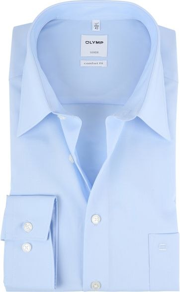 Olymp Shirt Ice Blue Comfort Fit