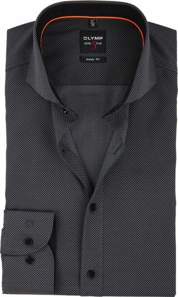 OLYMP Shirt Level 5 BF Checks Grey