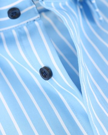 Detail Olymp Shirt Level 5 Blauw Body Fit