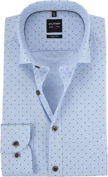 OLYMP Shirt Level 5 Diamond Blue