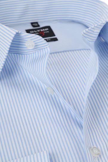 OLYMP Shirt Level 5 Stripes Blue