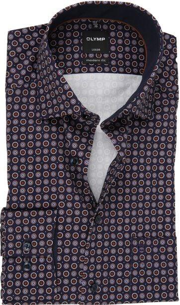 OLYMP Shirt Luxor Design Navy