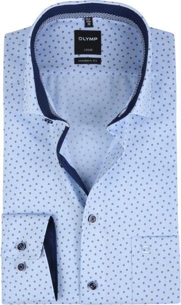 OLYMP Shirt Luxor MF Circle Blue