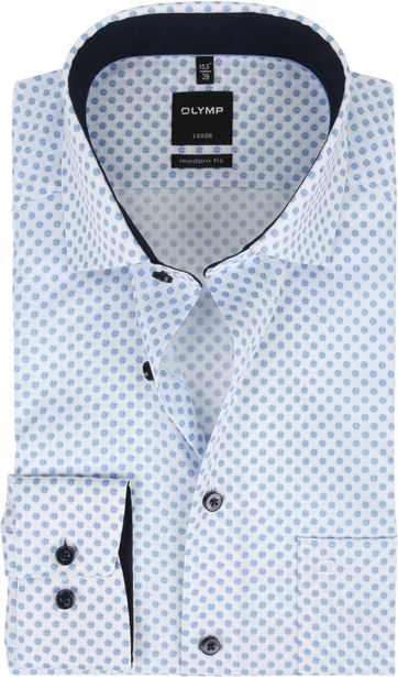 OLYMP Shirt Luxor MF Dots Blue