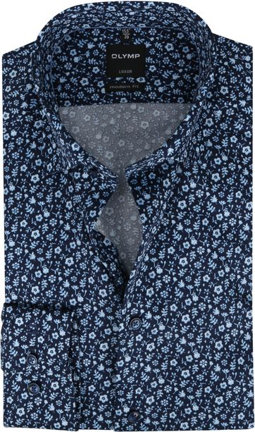 OLYMP Shirt Luxor MF Flowers Blue
