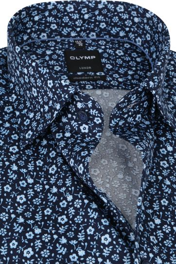 OLYMP Shirt Luxor MF Flowers Blue