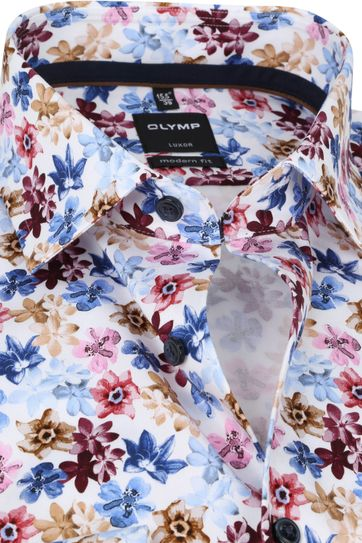 OLYMP Shirt Luxor MF Flowers Pink