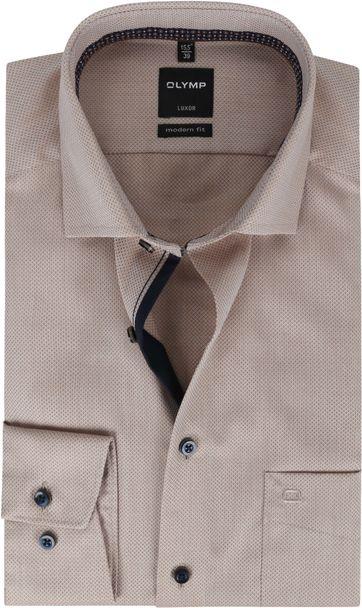 OLYMP Shirt Luxor MF Pattern Brown