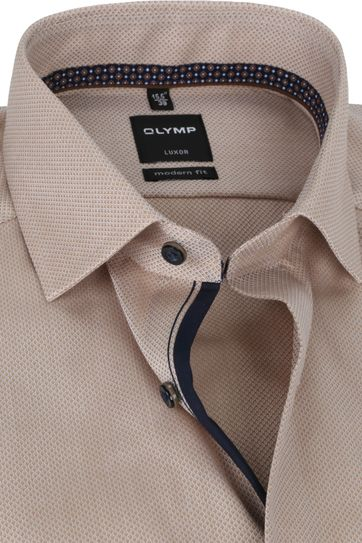 OLYMP Shirt Luxor MF Pattern Brown