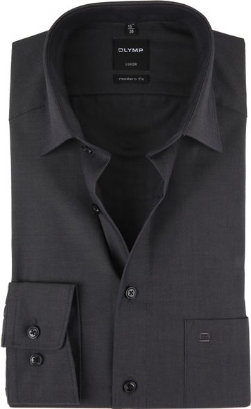 OLYMP Shirt Luxor Modern-Fit Dark Grey
