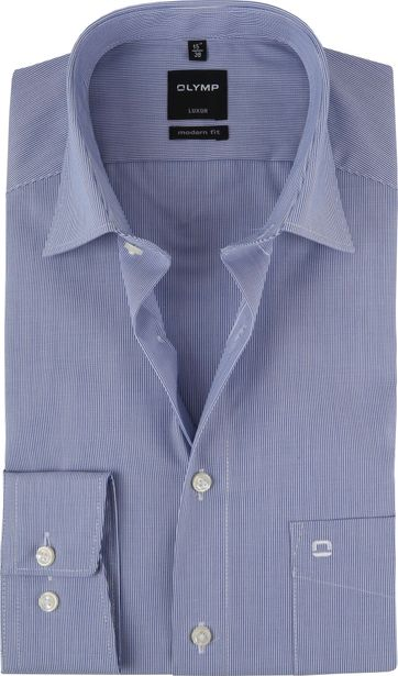 OLYMP Shirt Luxor Modern-Fit Dark Light Blue