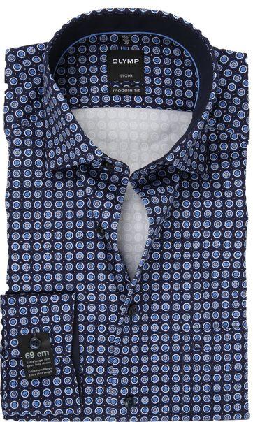 OLYMP Shirt Luxor SL7 Printed Blue